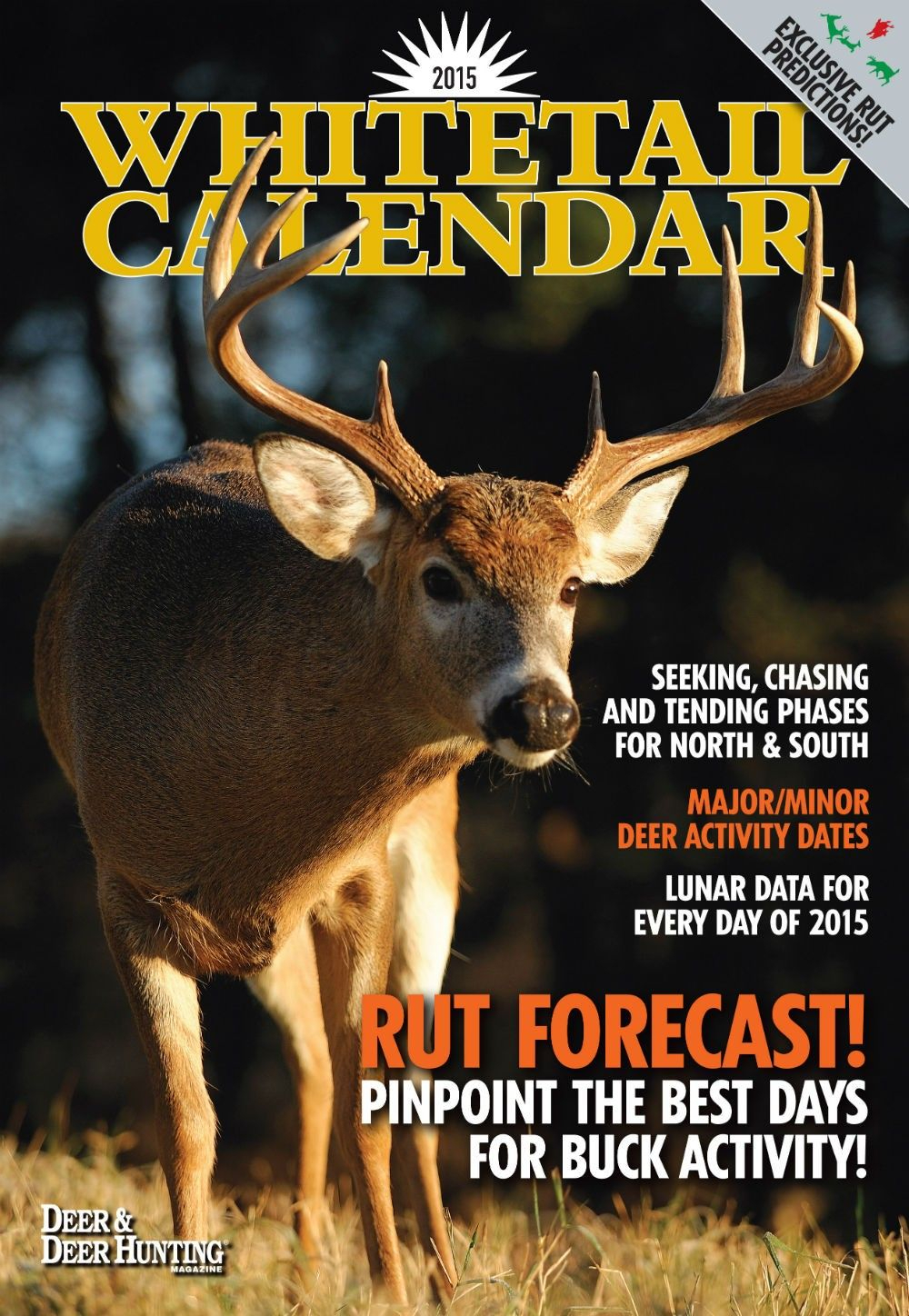 Deer & Deer Hunting Whitetail Lunar Calendar | Printable for 2021 Rut Predictor