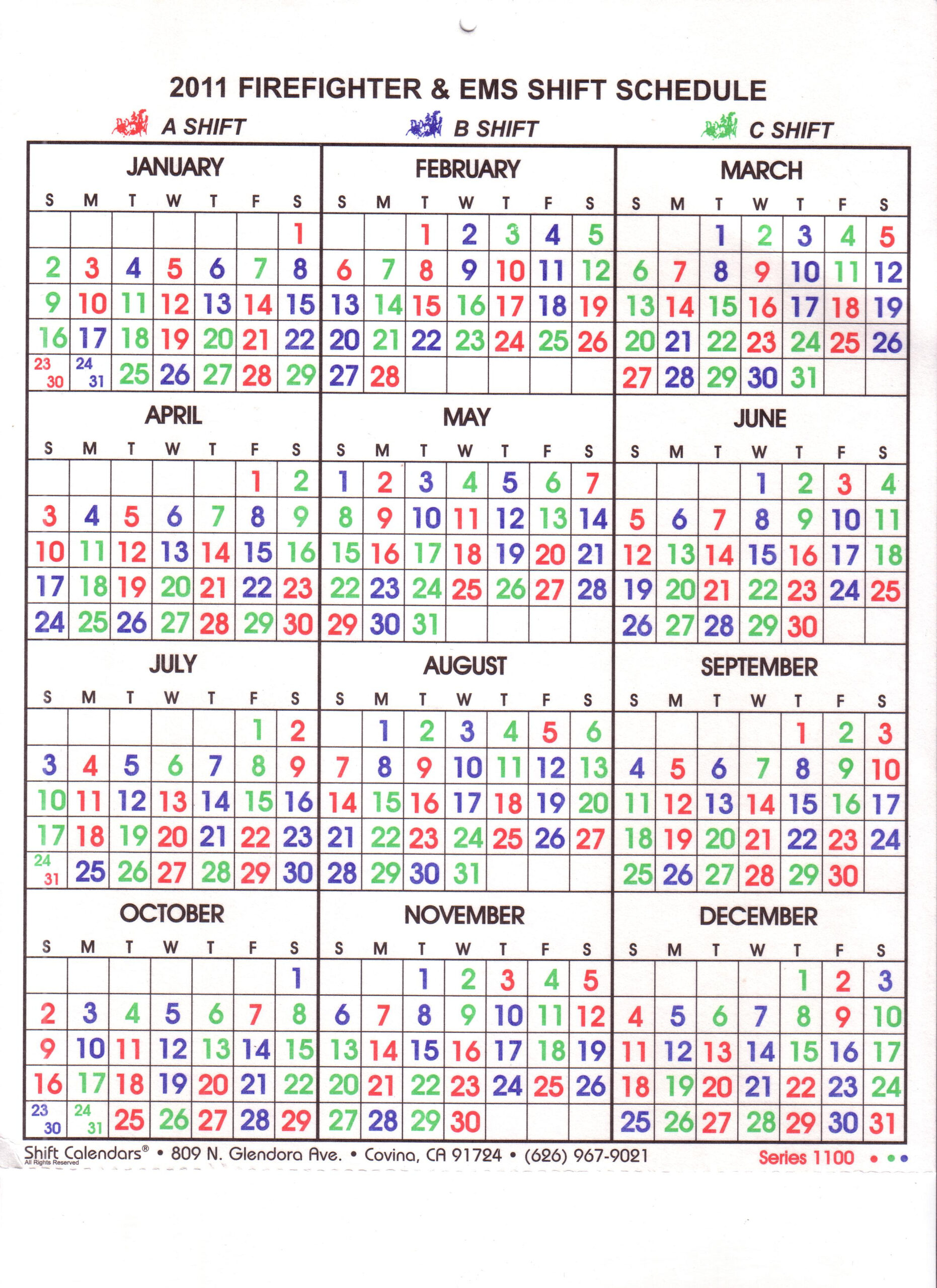 Dentrodabiblia: Firefighter Shift within Firehouse Shift Calendar