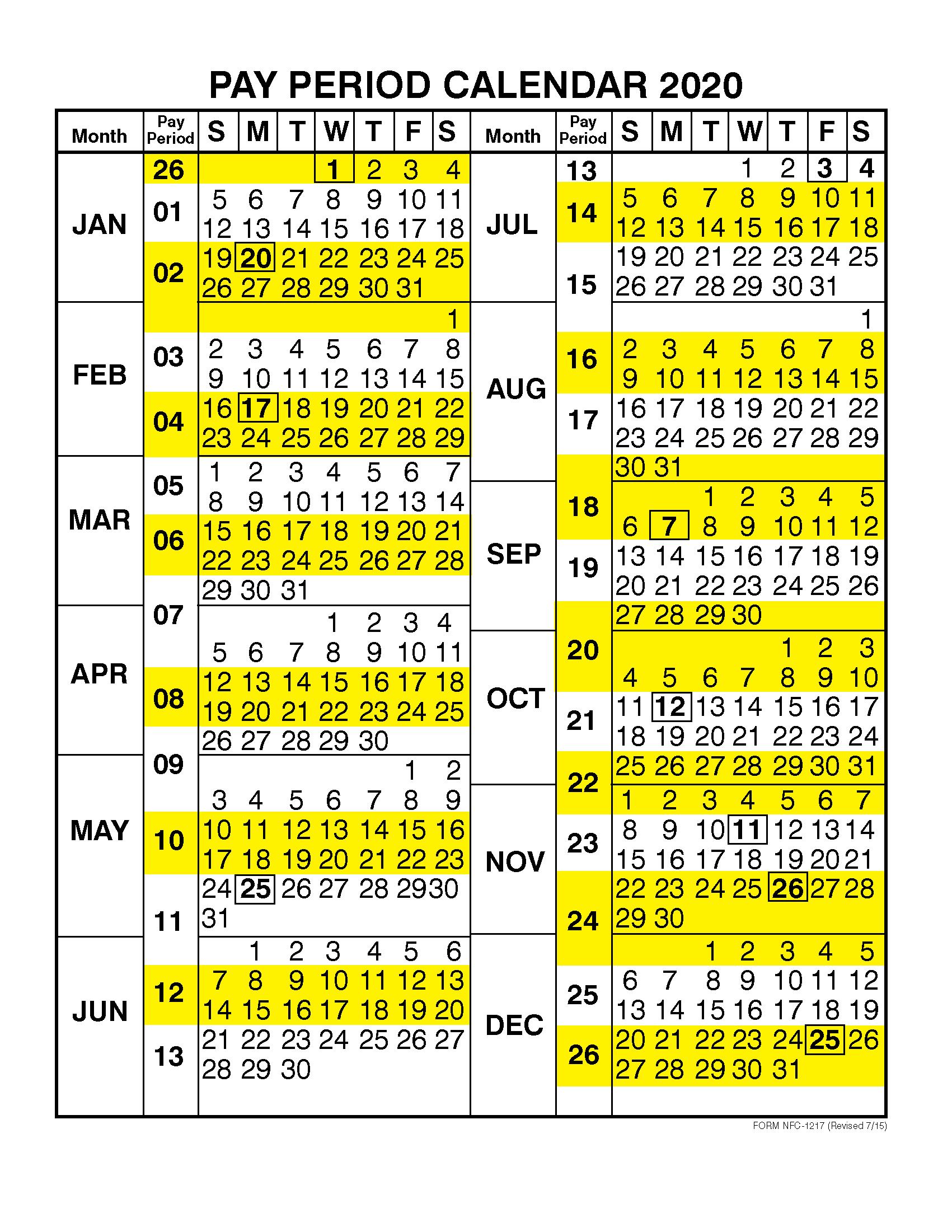 Dfas Payroll Calendar 2021   2021 Pay Periods Calendar regarding Federal Government Calendar Printable