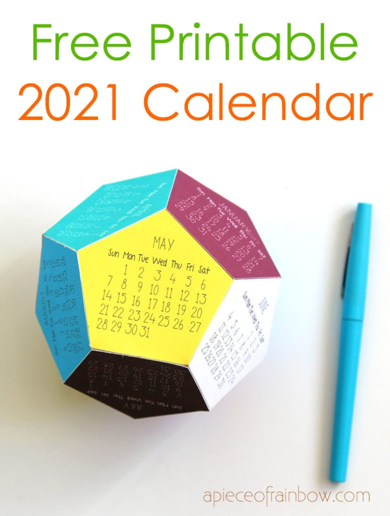 Diy 3D 2021 Calendar! (Free Printable Template) - A Piece Of in Blank W-9 Form 2021 Printable