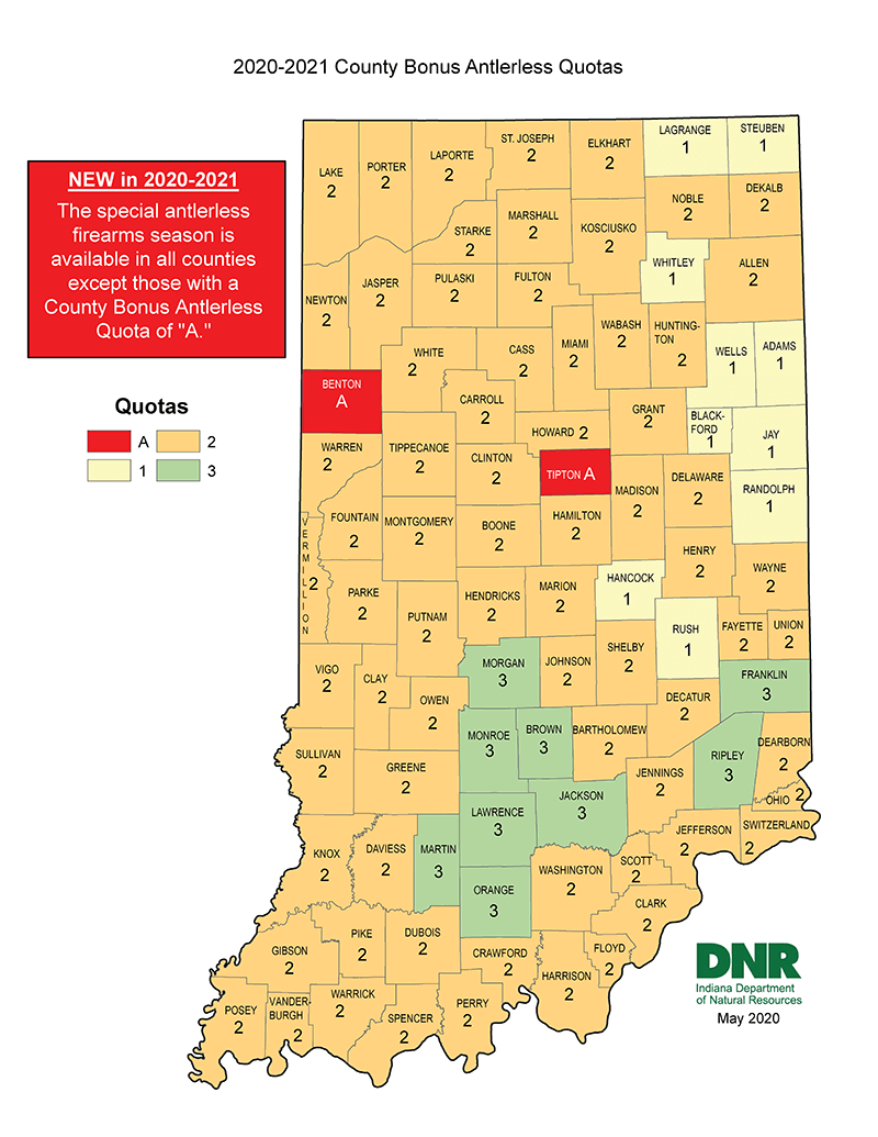 Dnr: Special Antlerless Firearms Season for Deer Season Indiana 2021