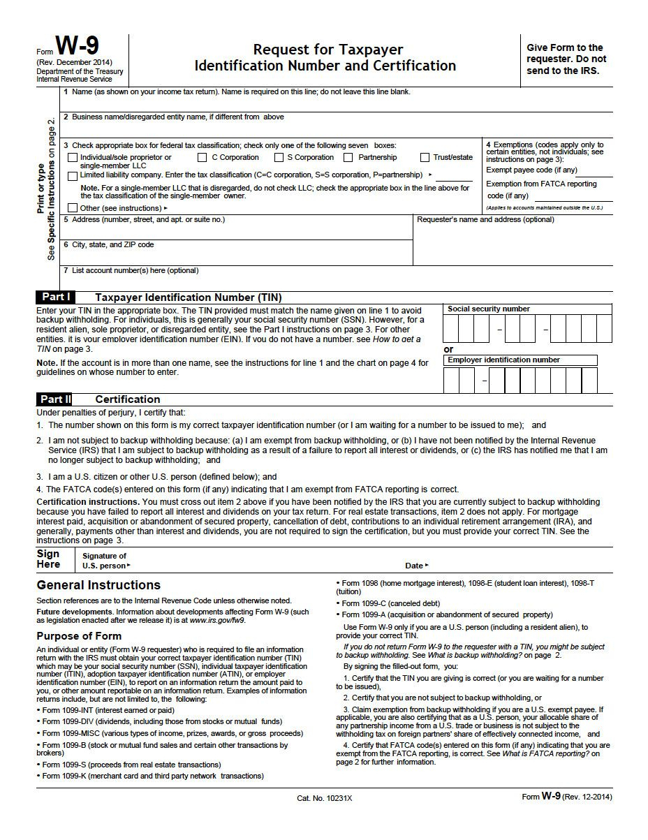 Downloadable W9 Tax Form Property Management Forms In 2020 regarding Free W 9 Blank Form