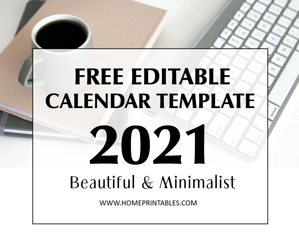 Editable Calendar 2021 In Microsoft Word Template Free Download regarding Fillable Calendar Templates 2021