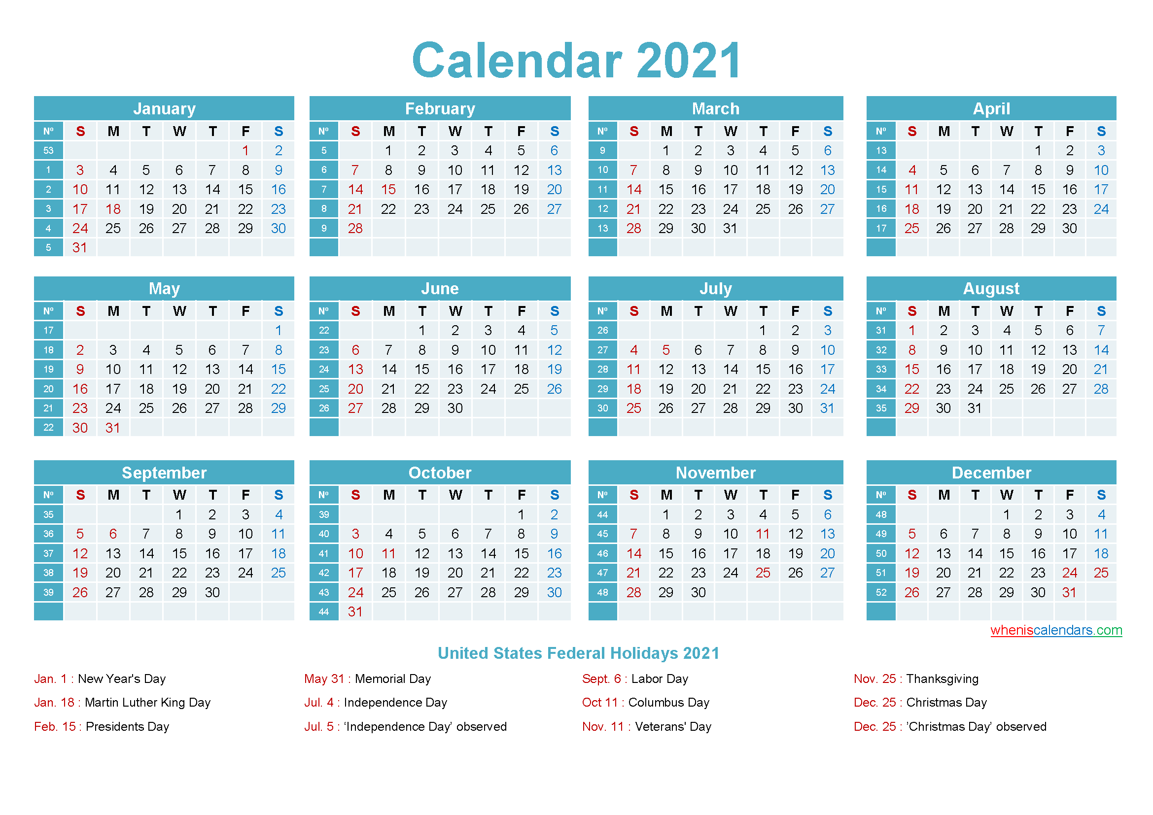 Editable Calendar Template 2021 - Template No.ep21Y12 with regard to Fillable Calendar Templates 2021