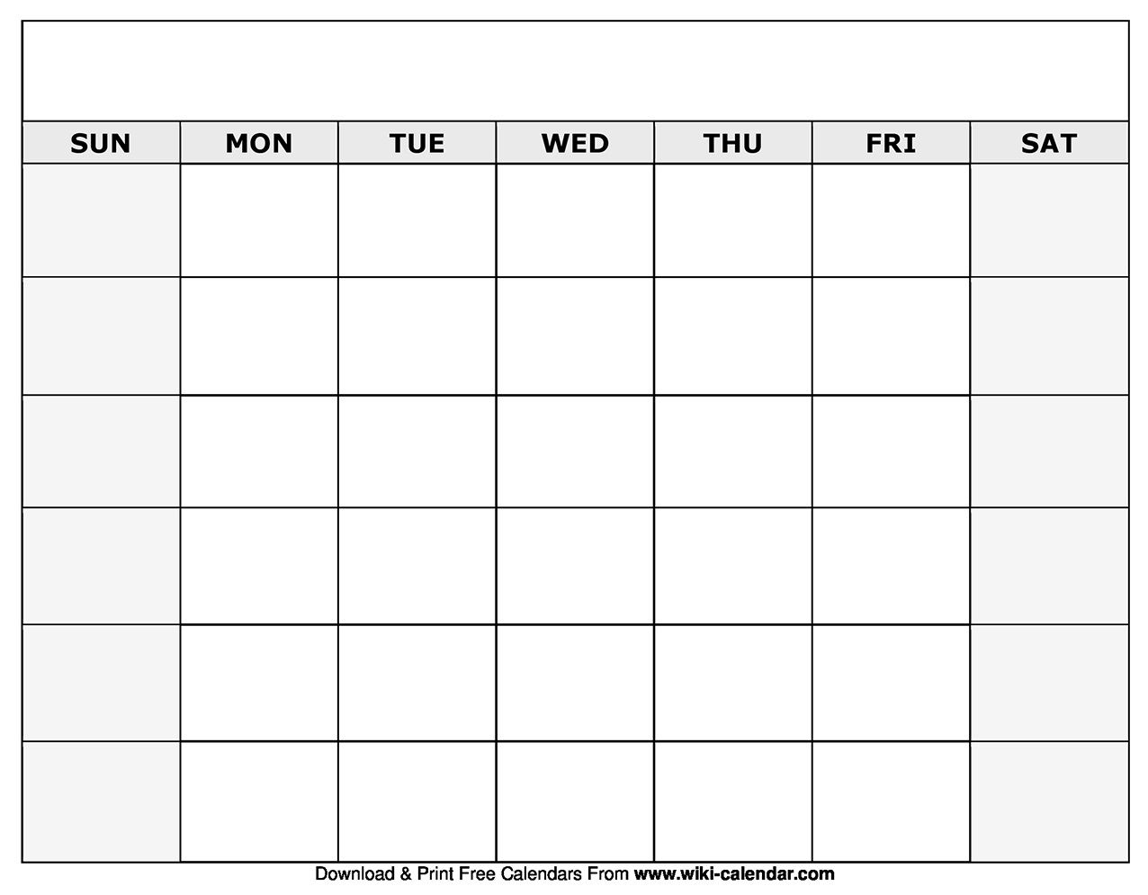 Fill In Calendar Template ~ Addictionary with Fill In Calendars