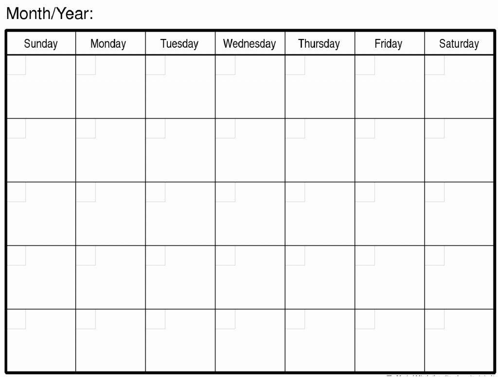 Fill In Monthly Calendar Printable - Calendar Inspiration Design throughout Fill In Calendar Printable
