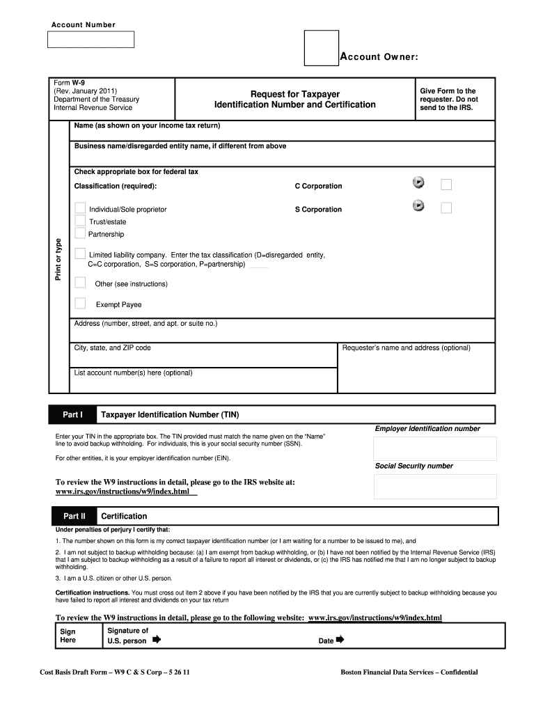Fillable W 9 - Fill Out And Sign Printable Pdf Template | Signnow with regard to Irs Form W 9 Fillable Pdf