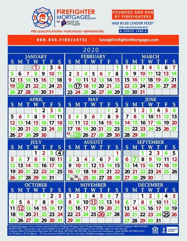 Fire Dept Shift Calendar 24/48 In 2020 | Calendar Printables throughout Fire Shift Calendar