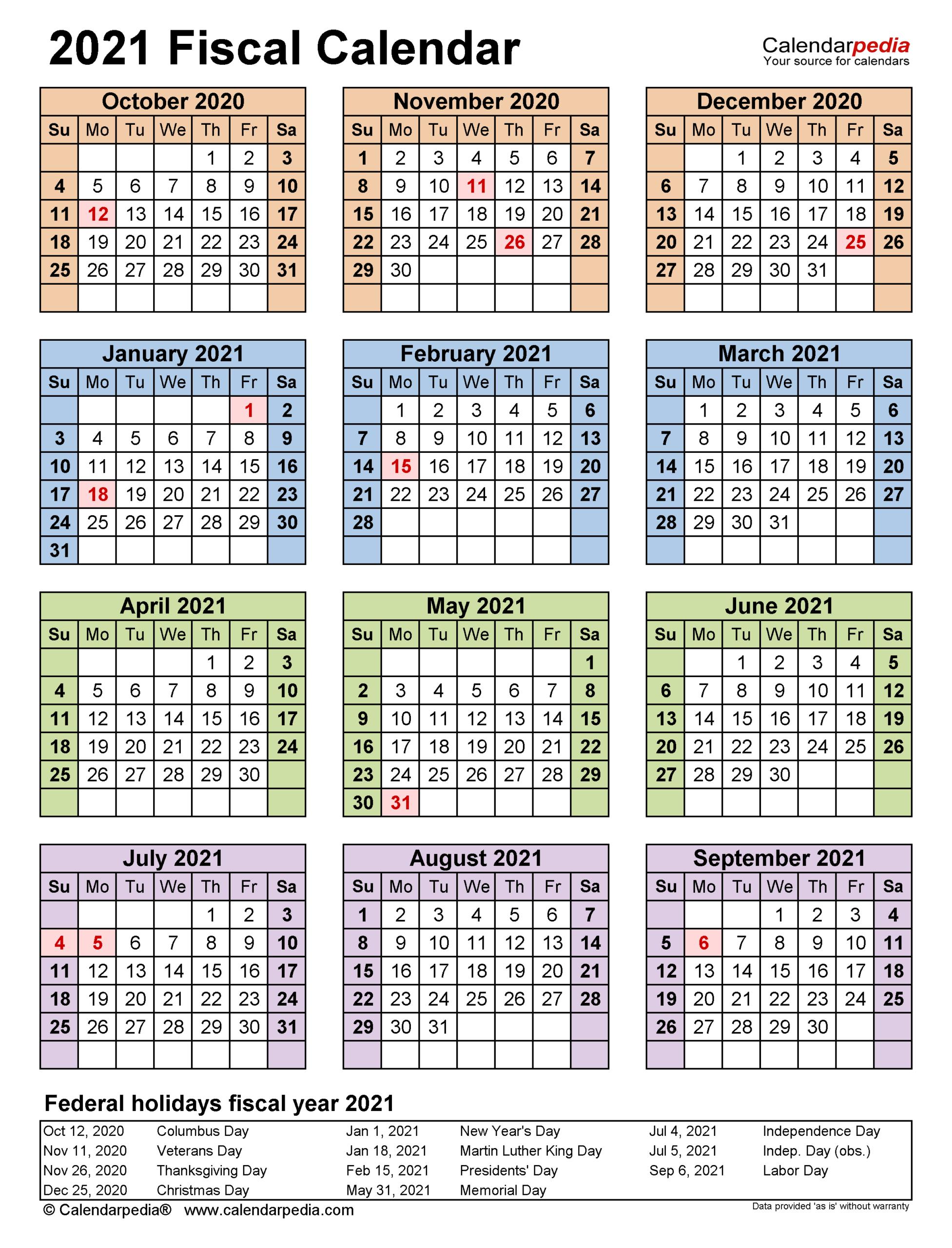 Fiscal Calendars 2021 - Free Printable Excel Templates for Calendario 4-4-5 2021