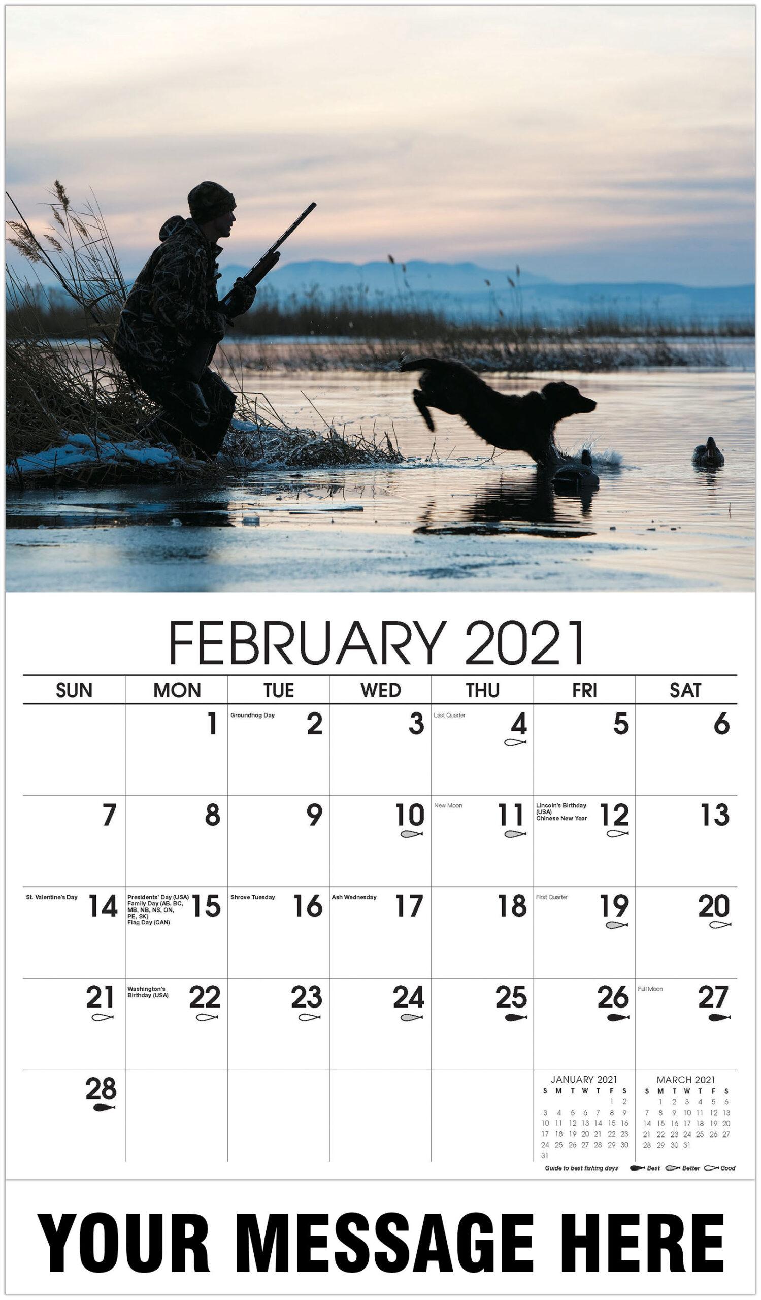Fishing & Hunting for Hunting Calendar 2021