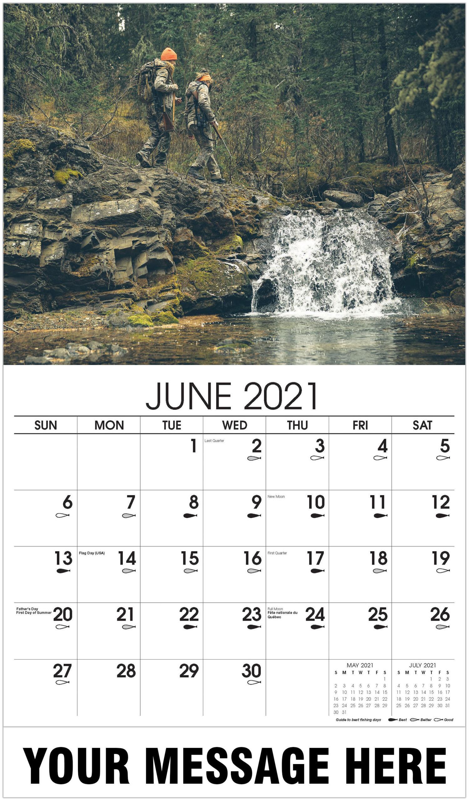 Fishing & Hunting within Hunting Calendar 2021