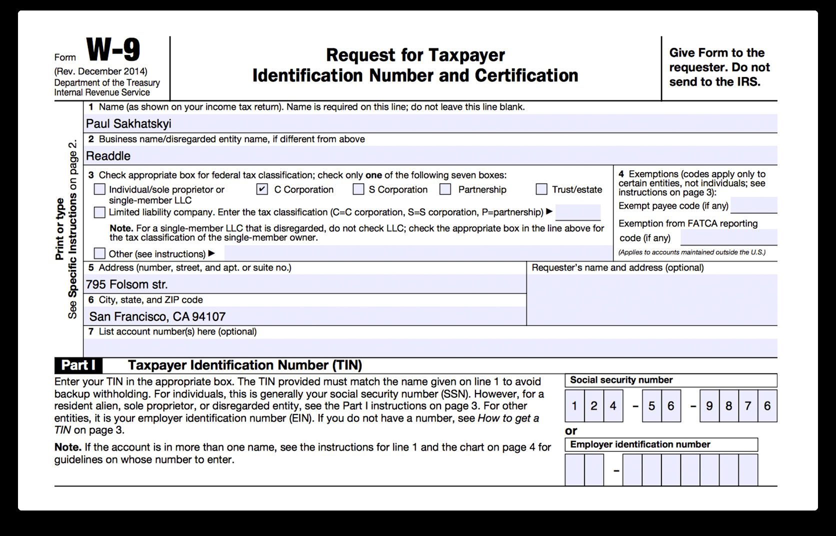 Form W 9 Fillable How To Fill Out Irs Form W 9 2017 2018 In pertaining to Print W 9 Form Free