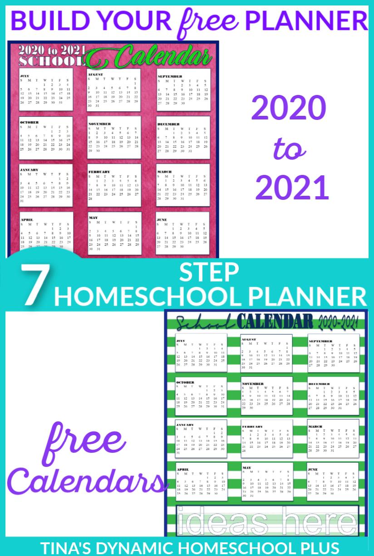Free 2020-2021 Academic Calendars – Homeschool Planner with Lesson Plan Calendar Template 2021