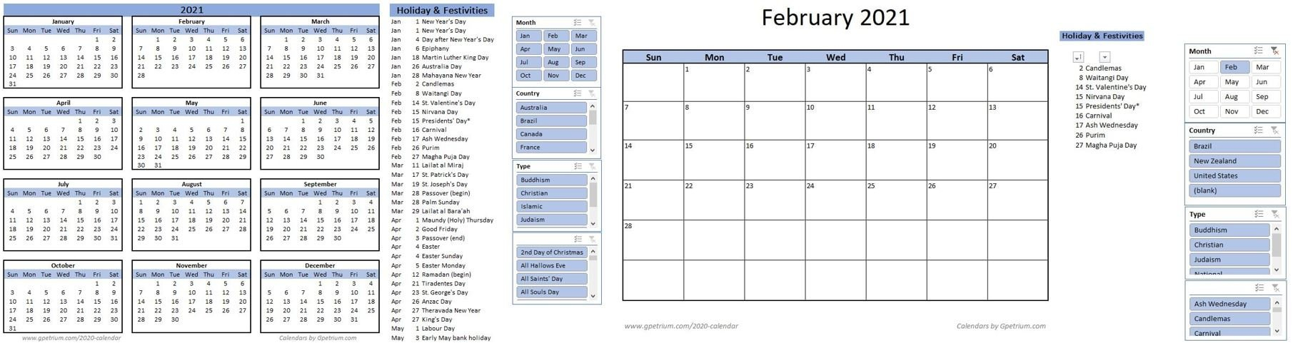 Free 2021 Calendar Template In Excel – Gpetrium regarding Hunting Season: Calendar 2021 Monthly