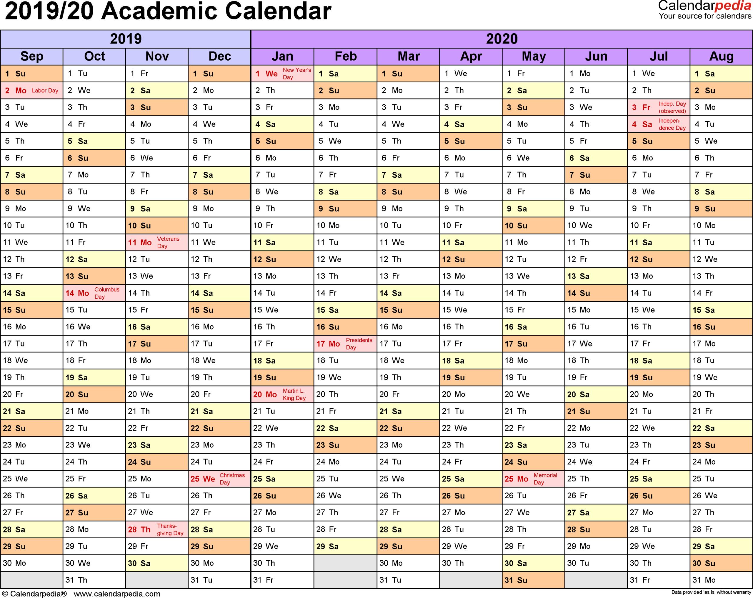 Free Blank Printable Calendar 2019 With Holidays Template throughout Vertex Academic Calendar