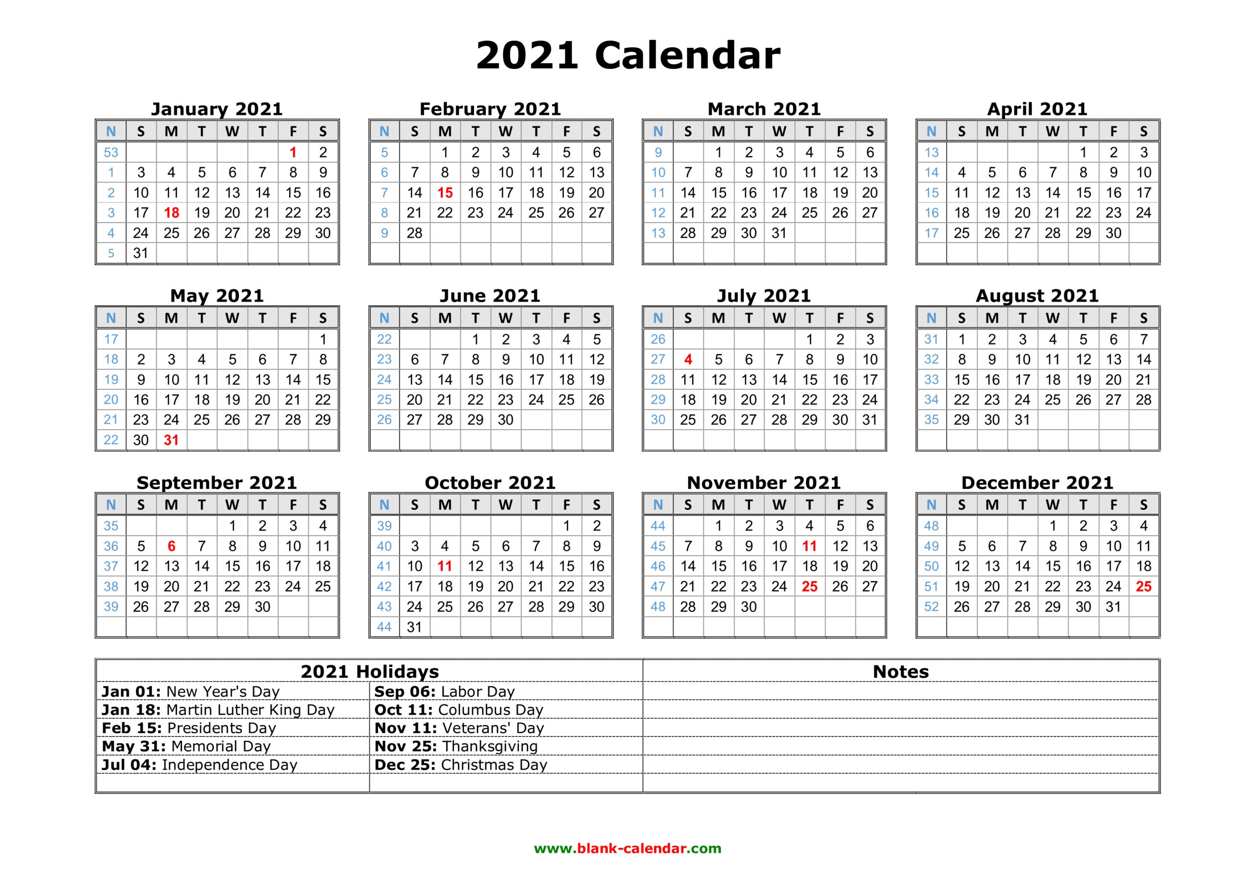 Free Download Printable Calendar 2021 With Us Federal with regard to Federal Government Calendar 2021 Printable