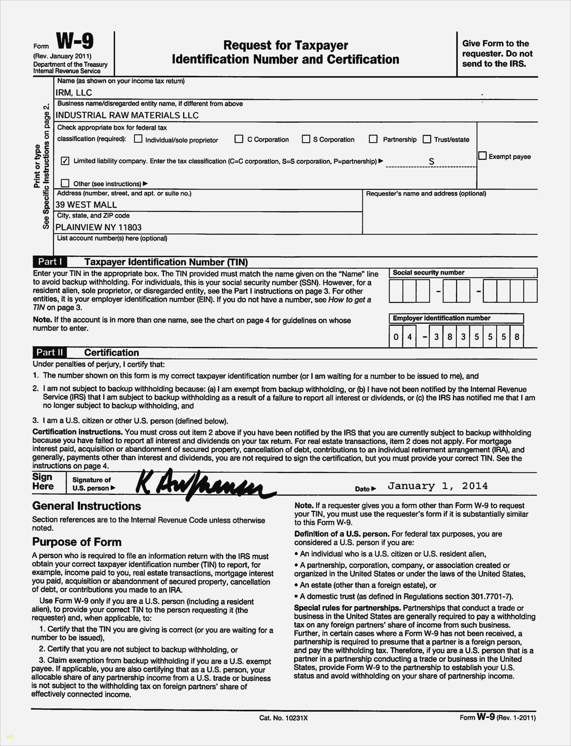 Free Fillable W9 Form W9 Invoice Template Attending W11 pertaining to Free Fillable W 9 Form