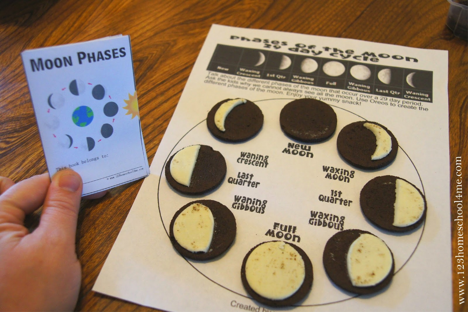 Free Moon Phases Mini-Book (Instant Download) pertaining to Phases Moon Printable