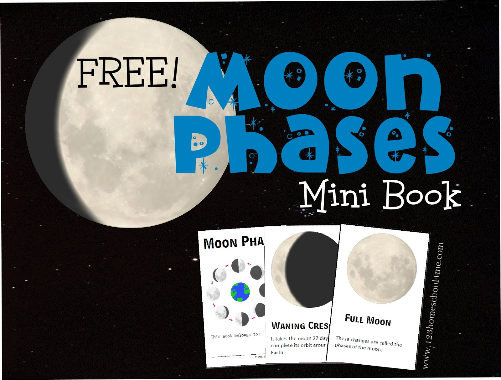 Free Moon Phases Mini-Book (Instant Download) within Phases Moon Printable