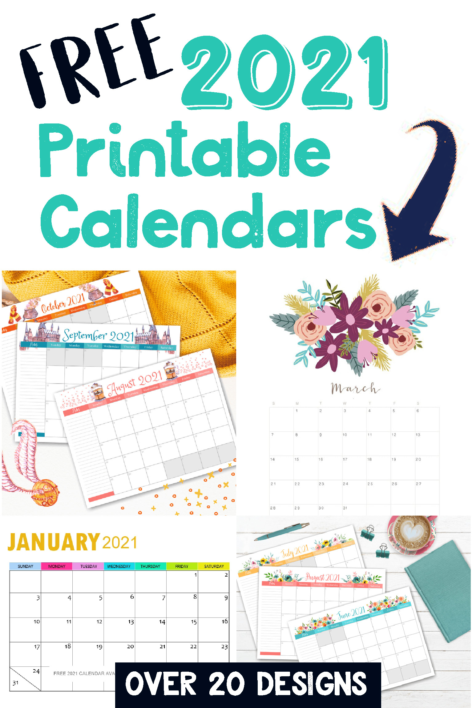 Free Printable 2021 Calendars - Crafting In The Rain in 2021-2021 2 Year Planner Llama Monthly