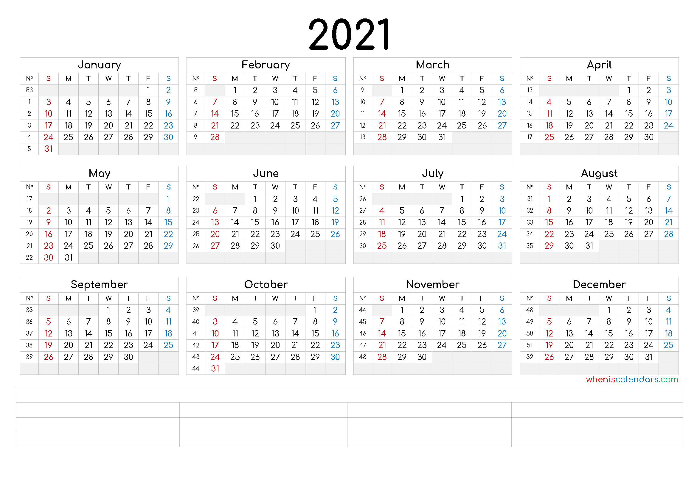 Free Printable 2021 Calendaryear – Calendraex with regard to Free Print 2021 Calendars Without Downloading