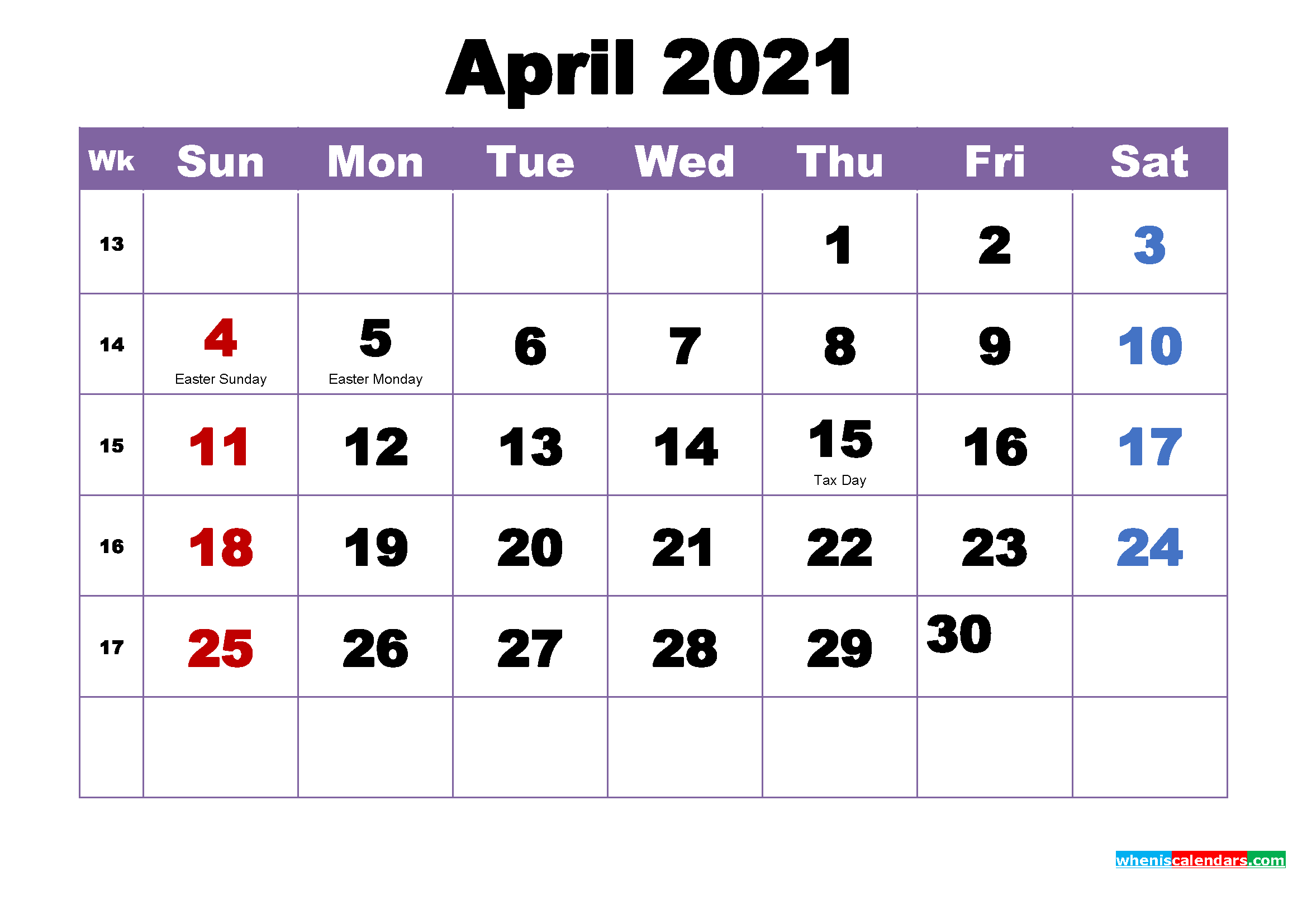 Free Printable April 2021 Calendar Wallpaper – Free with 2021-2021 Monthly Planner: 2 Year