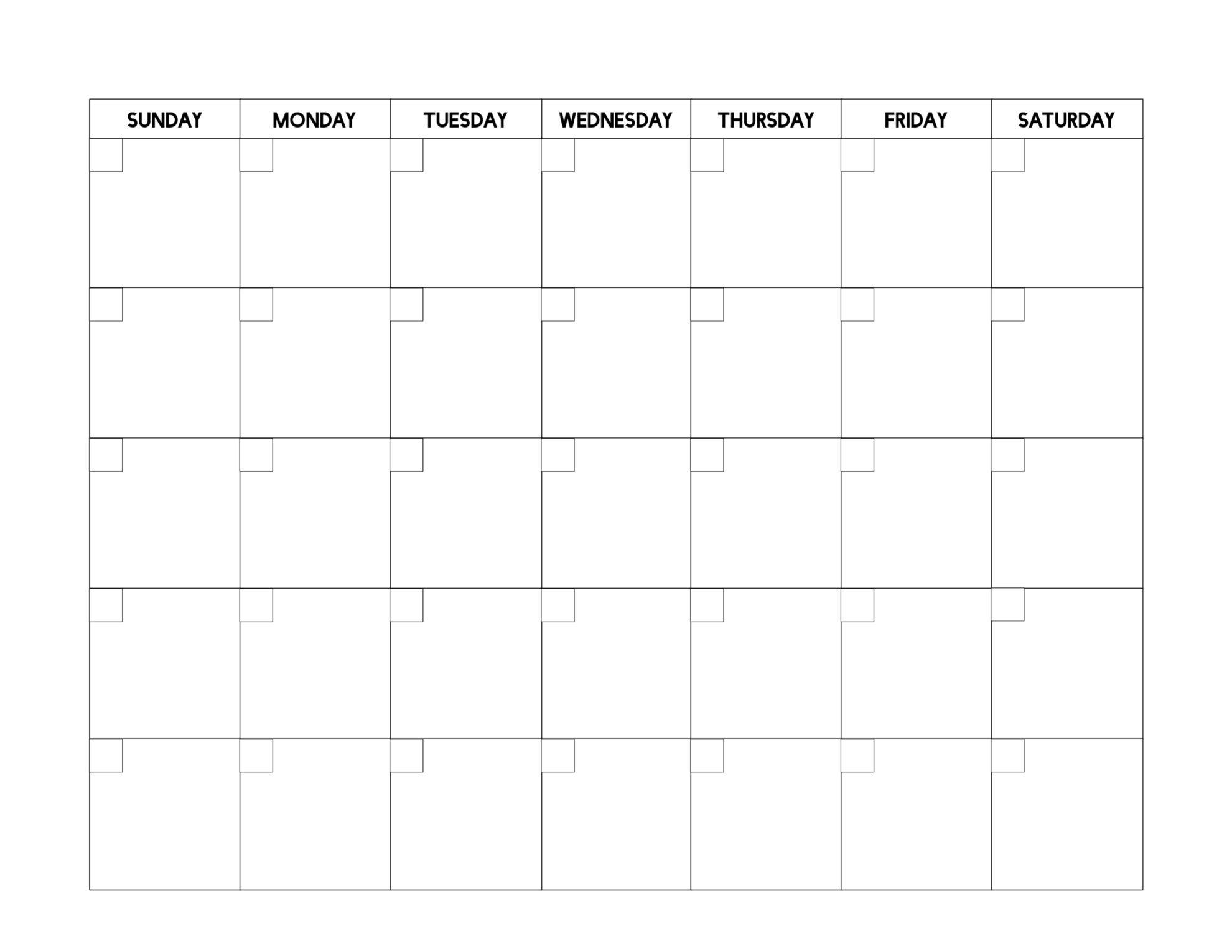 Free Printable Blank Calendar Template | Paper Trail Design in Free Fill In Printable Calendars