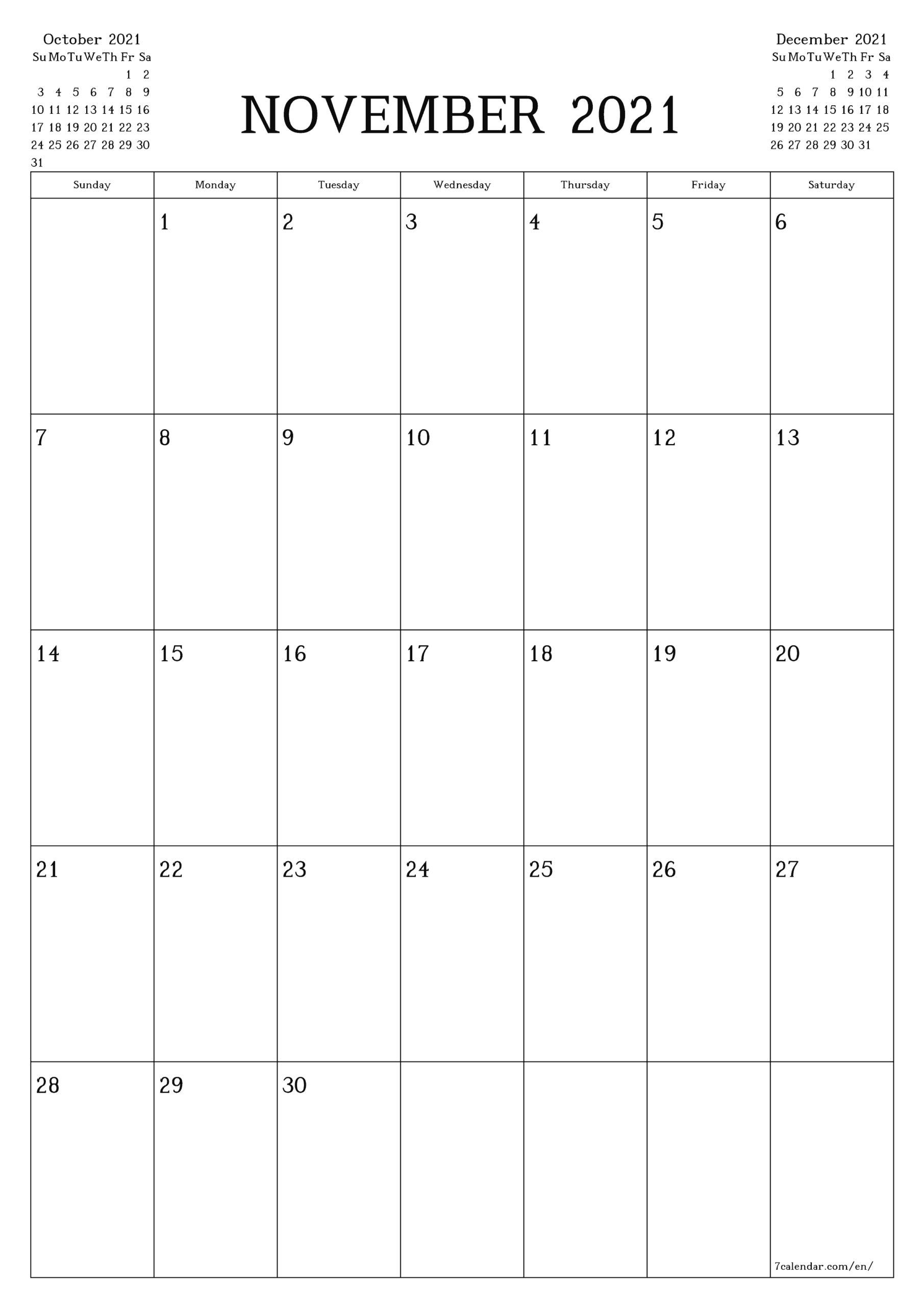 Free Printable Blank Monthly Calendar And Planner For throughout Printable Blank Fill In Monthly Calendar 2021