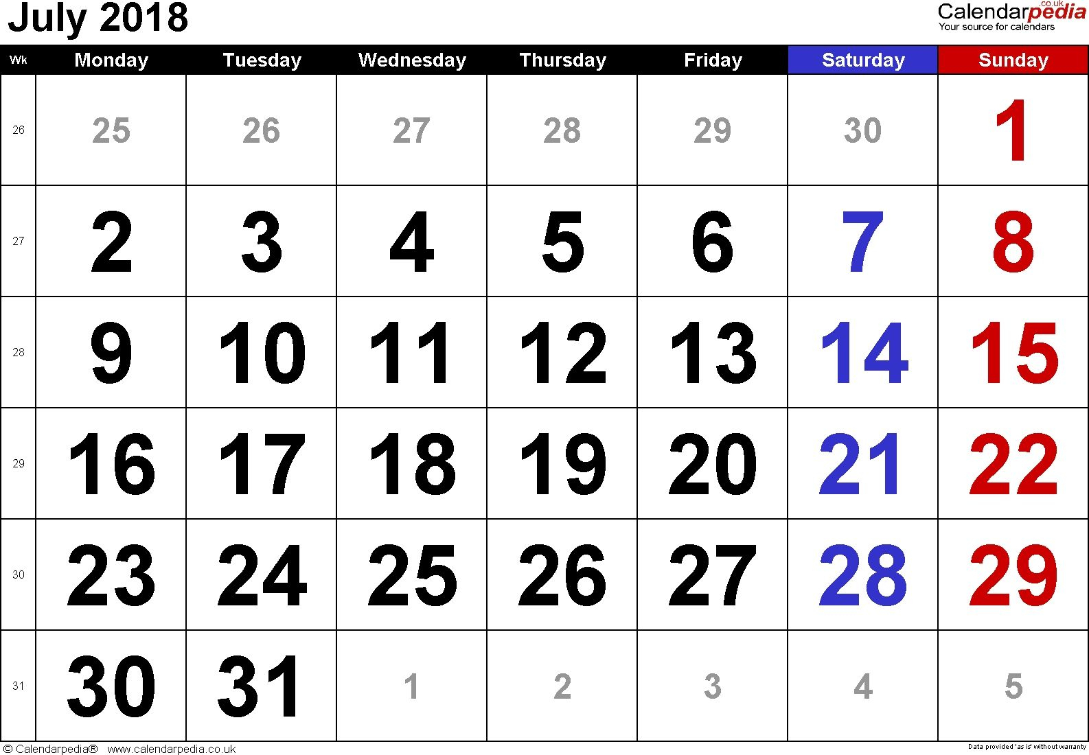 Free Printable Calendar Large Numbers In 2020 | Printable inside Large Number Calendar