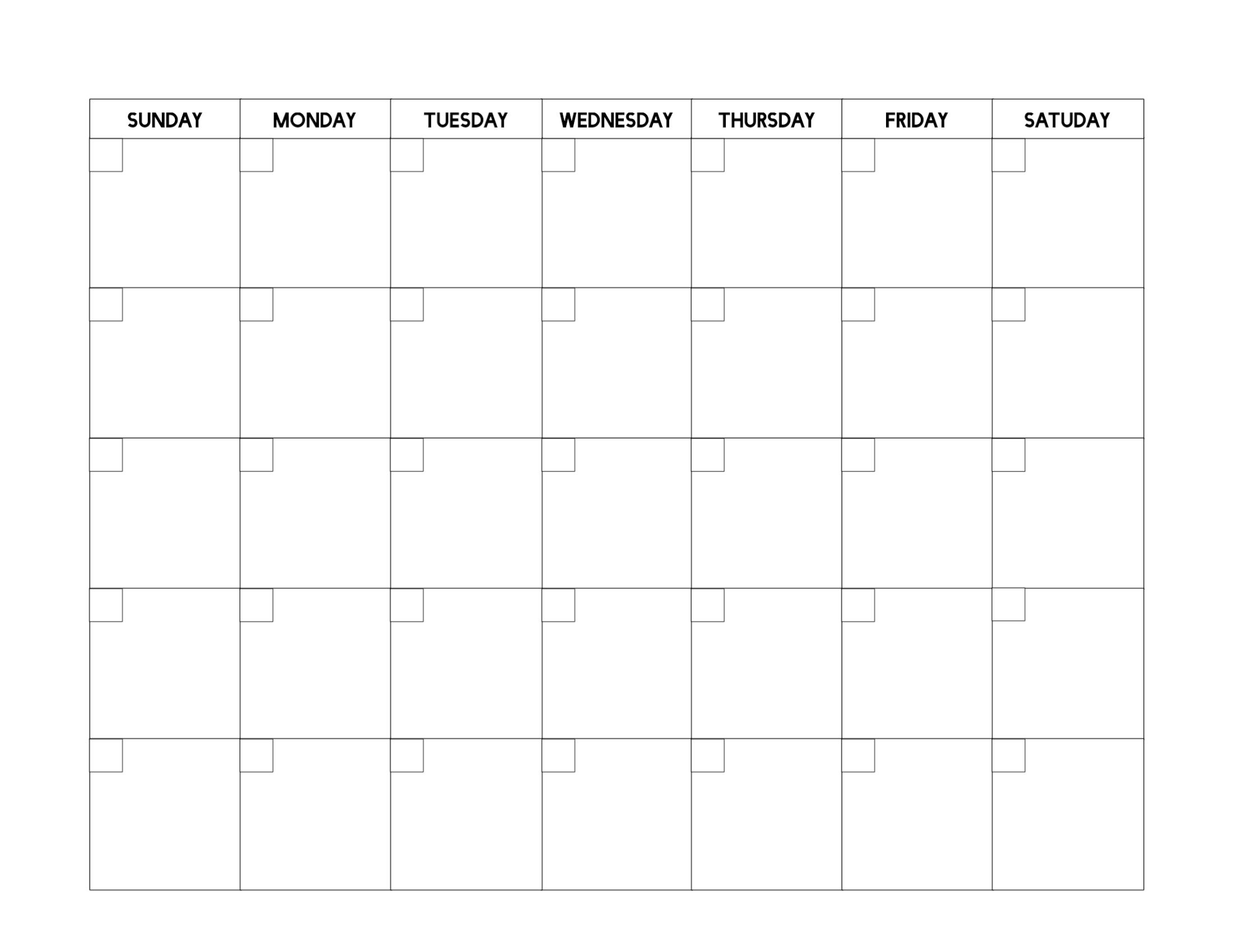 Free Printable Calendar Sheets In 2020 | Blank Calendar for 2021 Fill-In Calendar