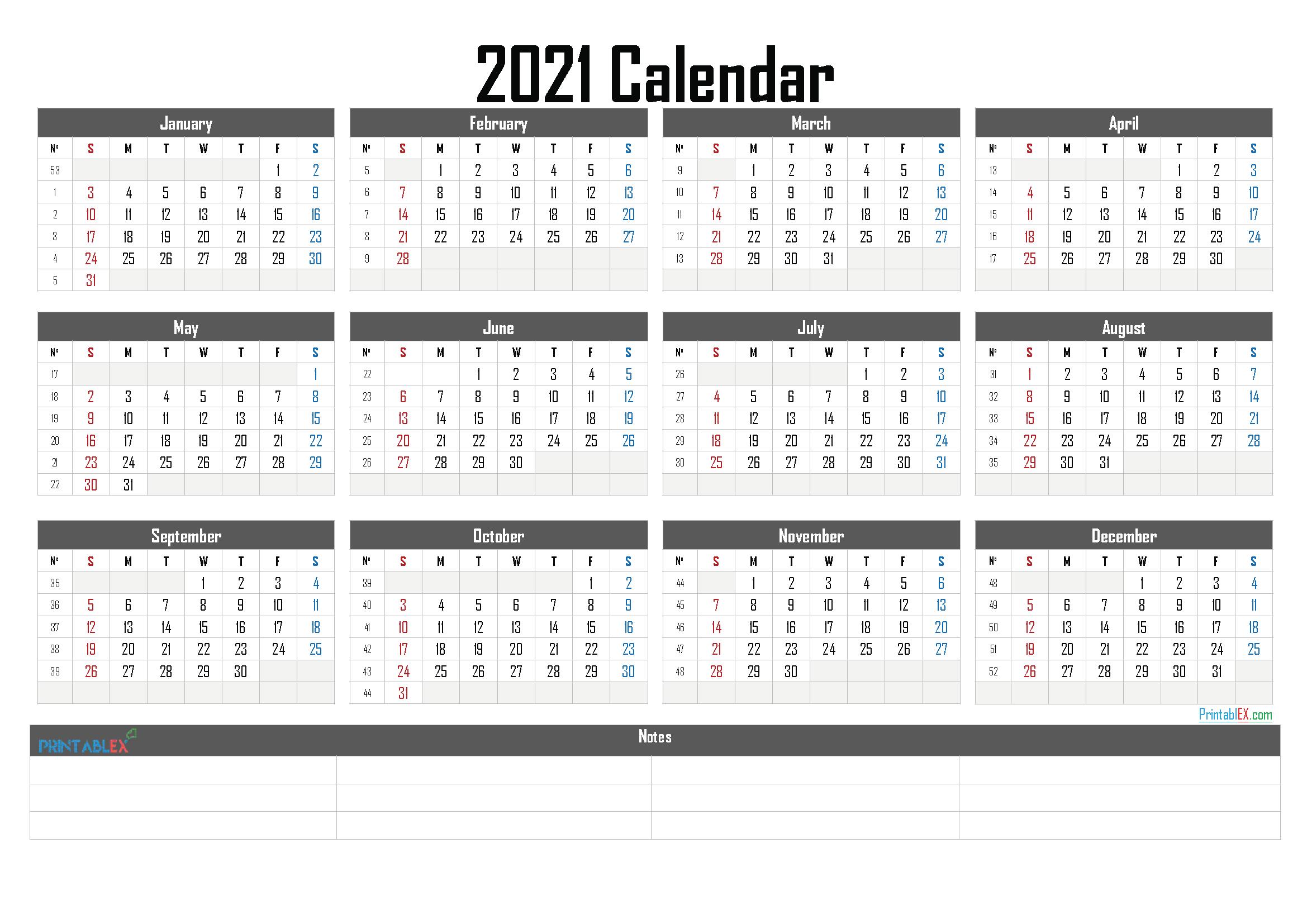 Free Printable Calendar Templates 2021 throughout Calendar Fill In 2021