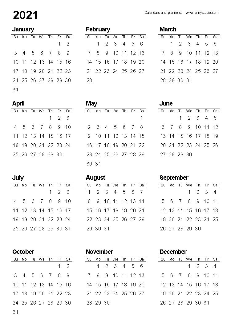 Free Printable Calendars And Planners 2020, 2021, 2022 In regarding Pocket Calendars 2021
