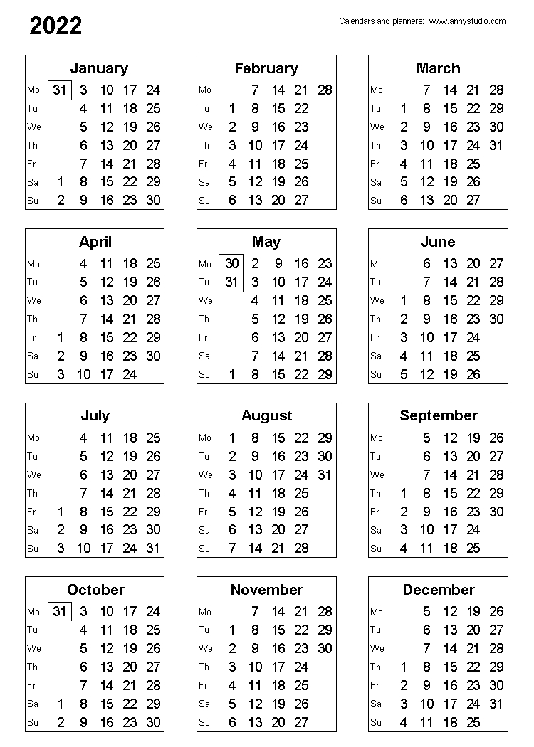 Free Printable Calendars And Planners 2021, 2022 And 2023 inside 2021-2022 Three Year Planner: 3 Year