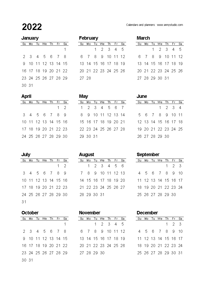 Free Printable Calendars And Planners 2021, 2022 And 2023 intended for 2021 - 2023 Four Year Monthly Calendar