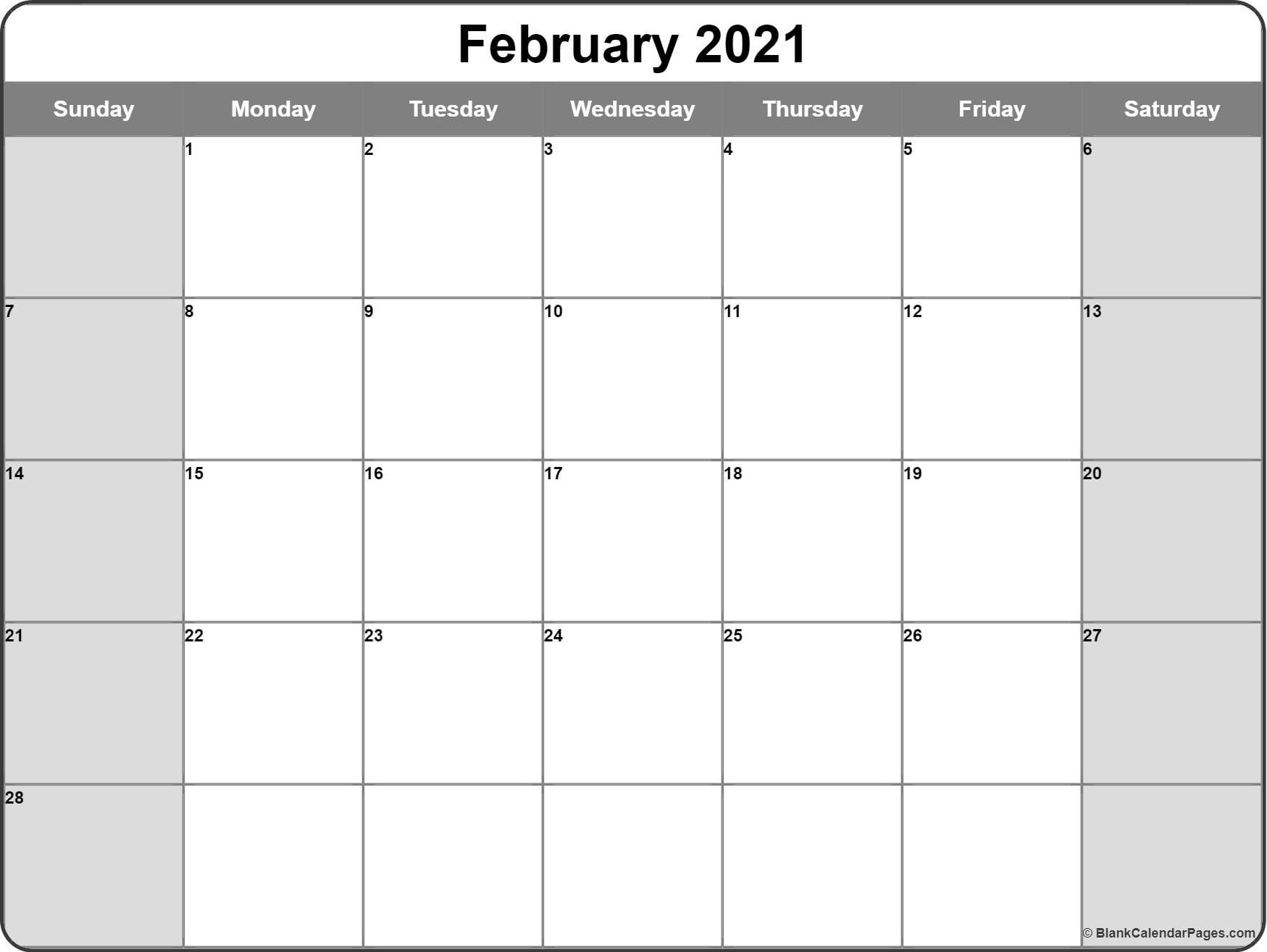 Free Printable Monthly Calendar 2021 Monthly – Welcome To in Fill In 2021 Calendar Pages Blank