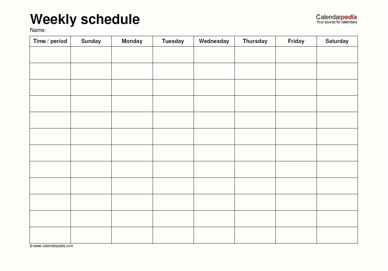 Friday Saturday Sunday Calendar Template In 2020   Weekly regarding Sunday To Saturday Calendar