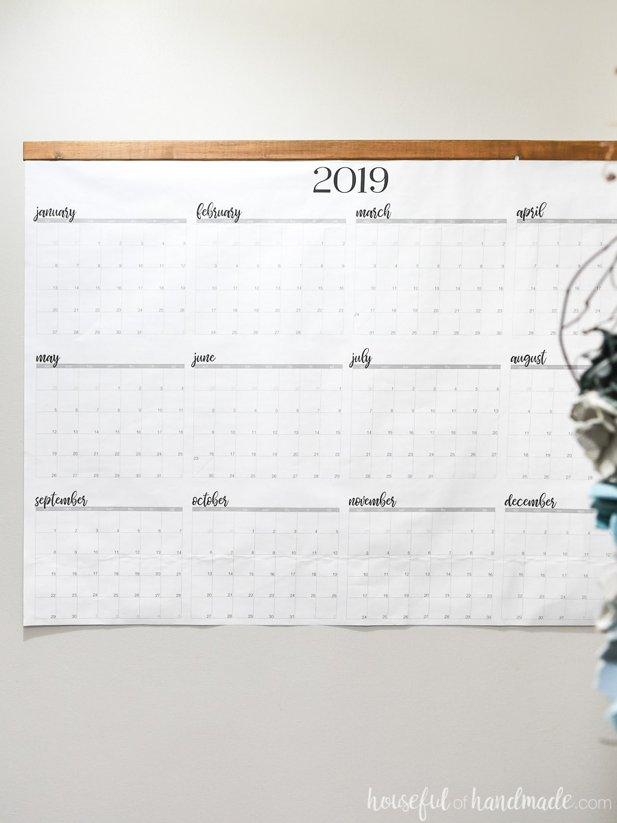 Giant Printable Yearly Calendar throughout Calendars With Large Squares