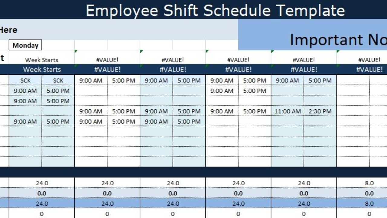 Guide To Use Employee Shift Schedule Template Excel within Free Shift Calendar Templates