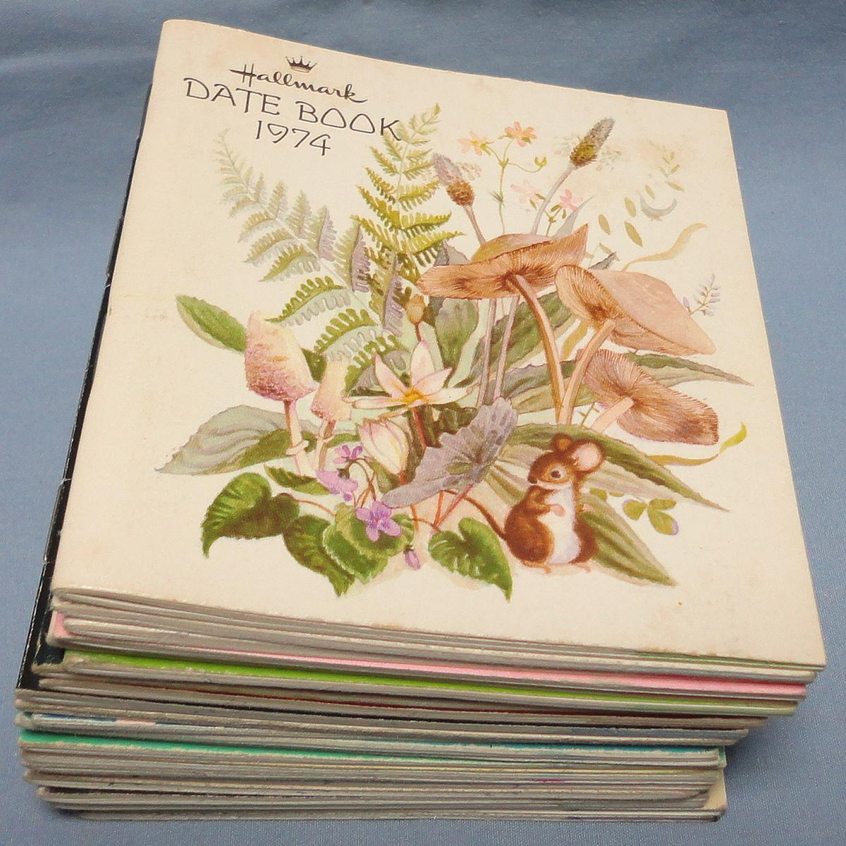 Hallmark Date Book Monthly Pocket Calendar Lot 22 Years 1974 within Free Hallmark Pocket Calendars