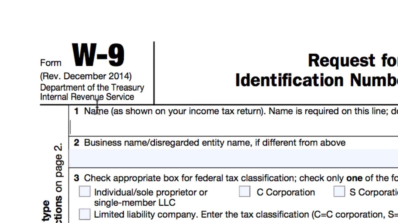How To Complete An Irs W-9 Form regarding Form Irs W 9