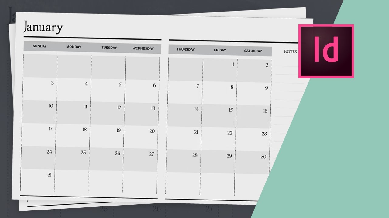 How To Design A Planner In Indesign - Calendar Design // Part Two for Calendar Wizard Indesign 2021
