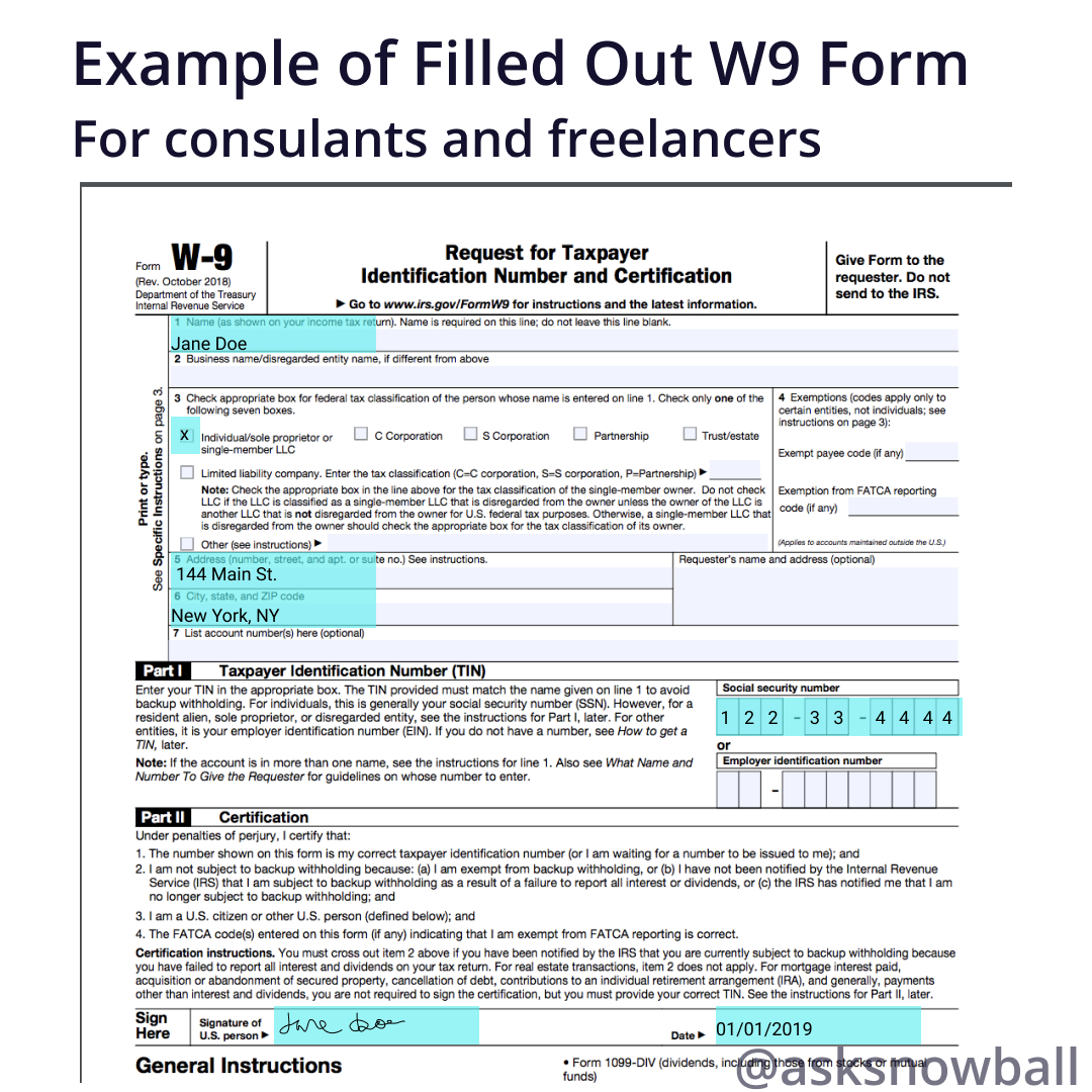 How To Fill Out A W-9 2019 throughout 2021 W9 Form