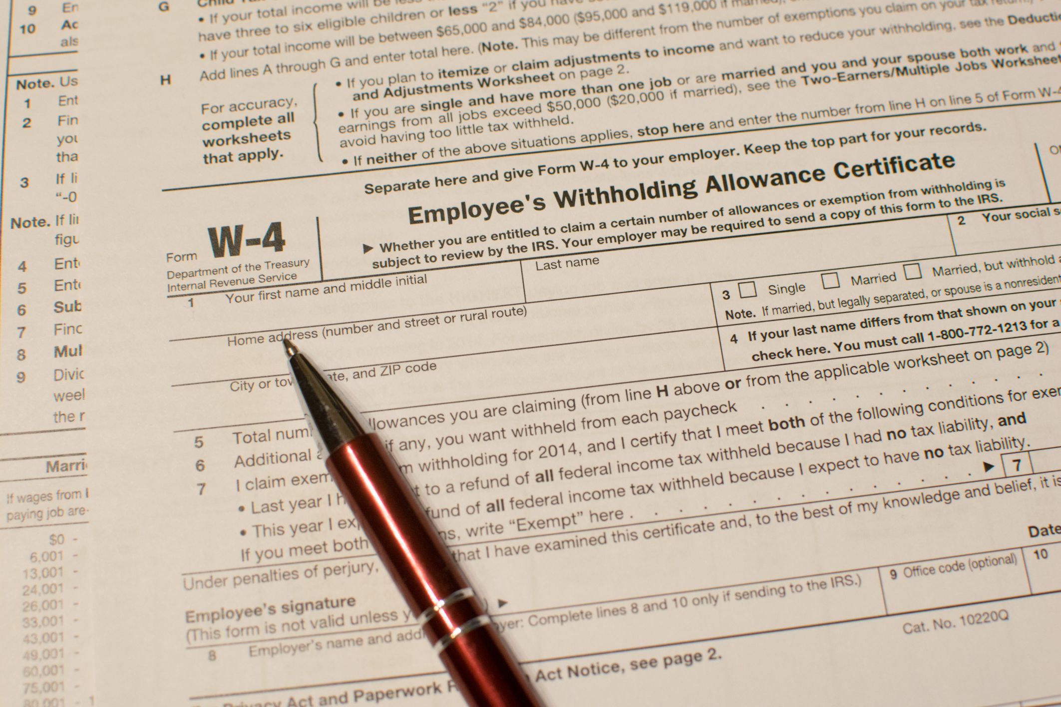 How To Fill Out Form W-4 In 2020 in Form W-9 2021