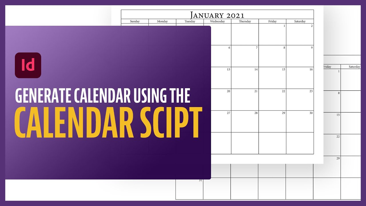How To Generate Calendar In Indesign Using The Calendar for Calendar Wizard Indesign 2021