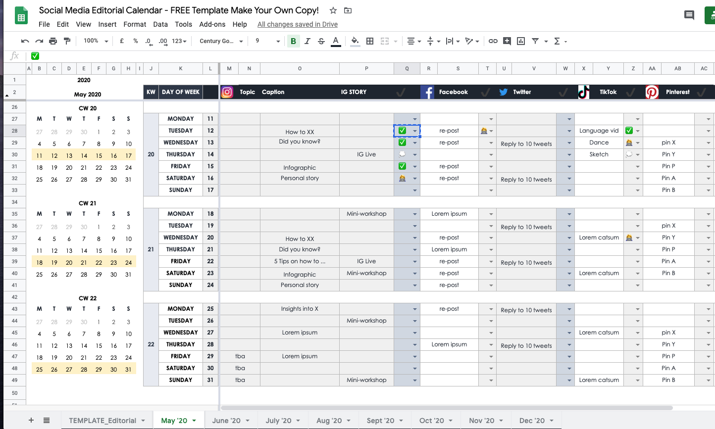 How To Plan Your Social Media In 2020 As An Individual Or with Lesson Plan Calendar Template 2021