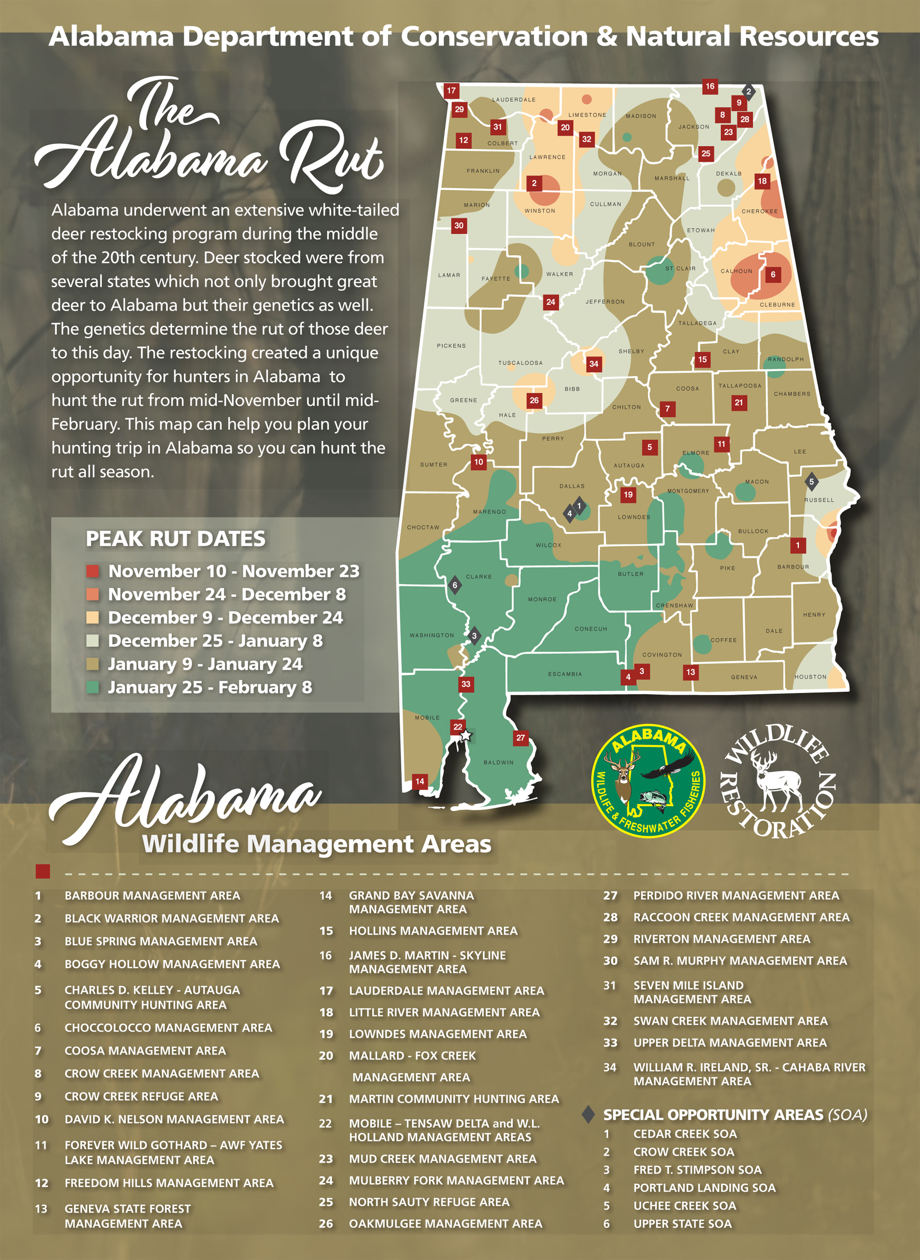 Hunters Can Use The Wff Rut Map To Determine The Likely inside Rut Indiana 2021