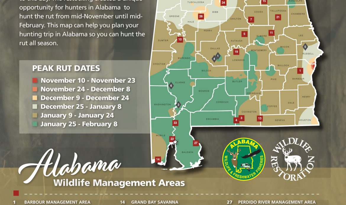 Hunters Can Use The Wff Rut Map To Determine The Likely with Deer Rut Map