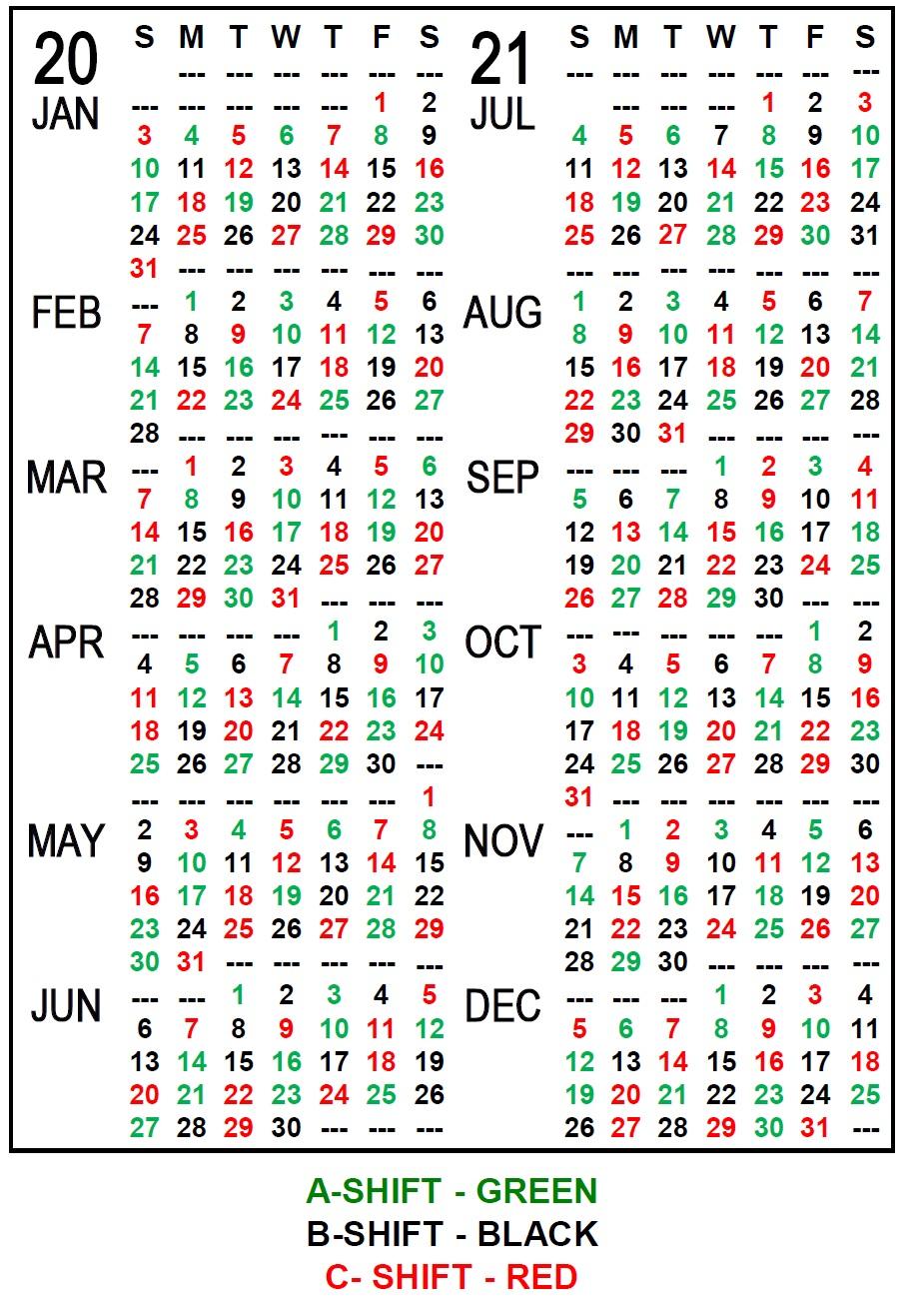 Iaff Local 21 - in Fire Shift Calendar