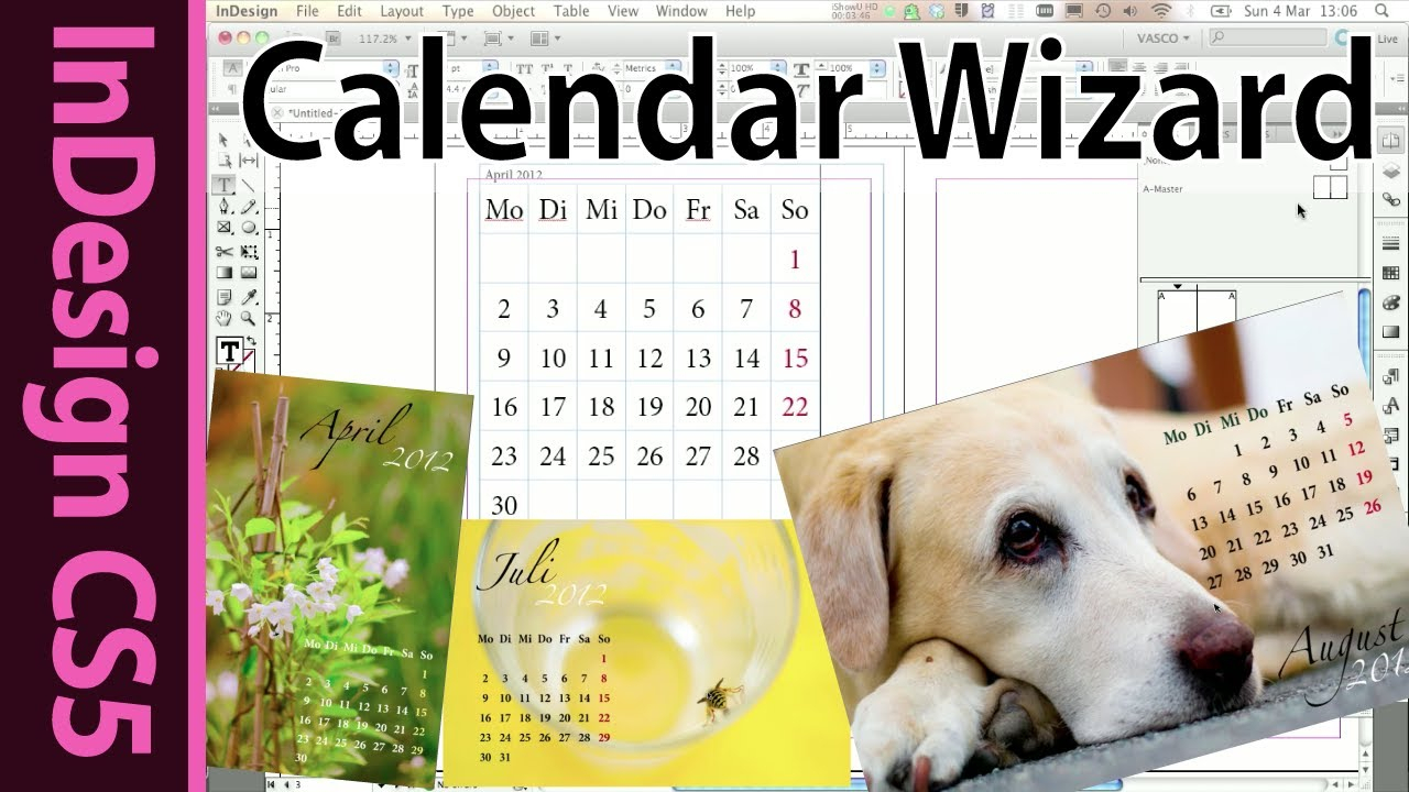 Indesign Calendar Wizard Tutorial (Foto Book Hack 2012) with regard to Indesign Calendar Wizard