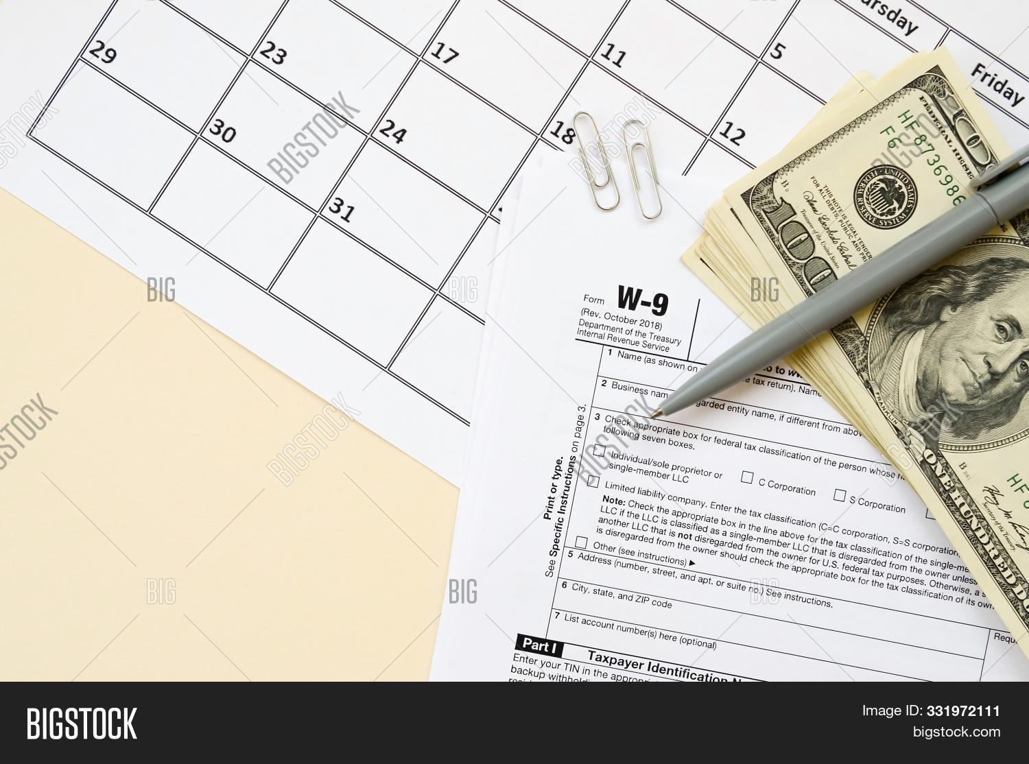 Irs Form W-9 Request Image & Photo (Free Trial) | Bigstock in Free W 9 Blank Form